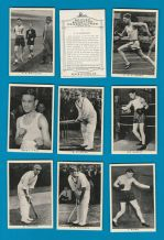 cigarette cards Sporting Personalities 1937, Boxing, Motor Racing, Golf etc